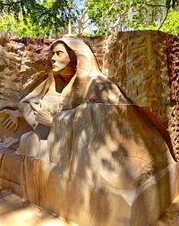 Sandstone as a Statue and Retaining Wall